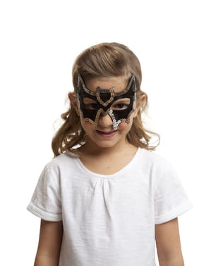 Paljett Batman Øyemaske for Jente