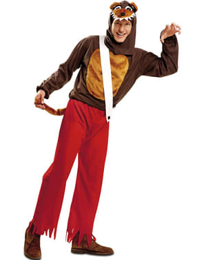 Glupsk Ulv Kostyme for Menn
