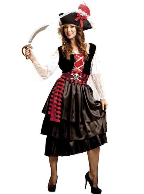 Fato de pirata recatada para mulher