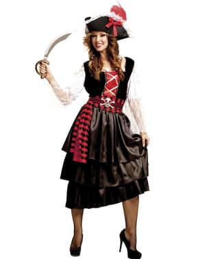 Piraat kostuum ingetogen voor vrouw