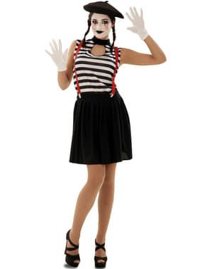 Disfraz de mimo expresivo para mujer