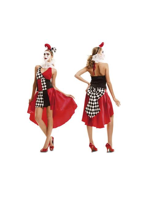 Disfraz de arlequín elegante para mujer