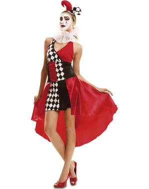 Déguisement clown arlequin pour femme