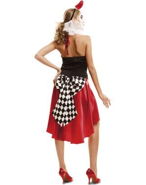 Harlekijn kostuum elegant voor vrouw