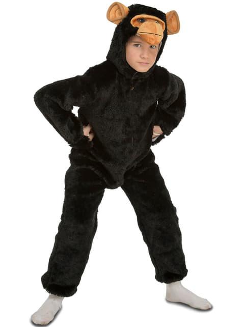 Maskeraddräkt chimpans hårig för barn