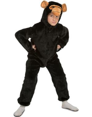 Haariges Schimpansen Kostüm für Kinder