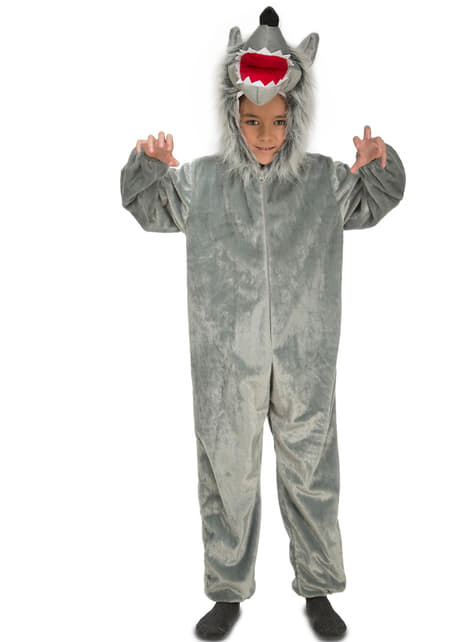 Disfraz de lobo feroz peludo infantil