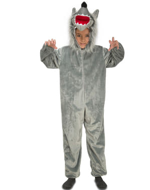 Otroci Furry Wolf kostum