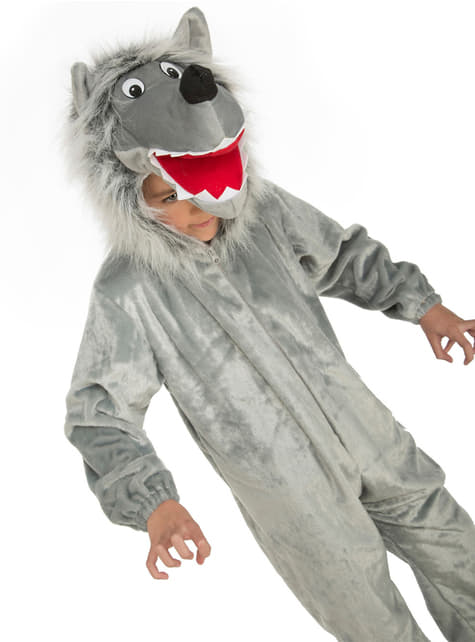 Disfraz de lobo feroz peludo infantil - infantil