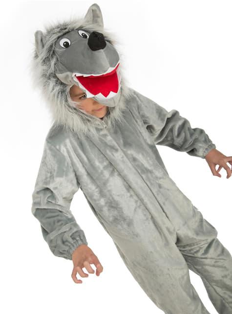 Maskeraddräkt varg farlig hårig för Barn