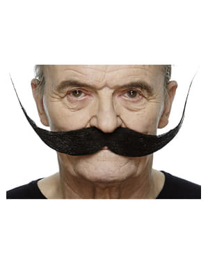 Perfectly Styled Black Moustache