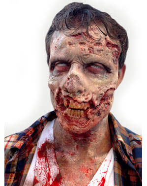 Half zombie gezicht masker voor volwassenen