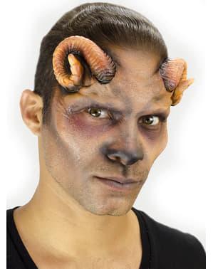 Halvt-Ansikt Protese med Geite Horn for Voksne