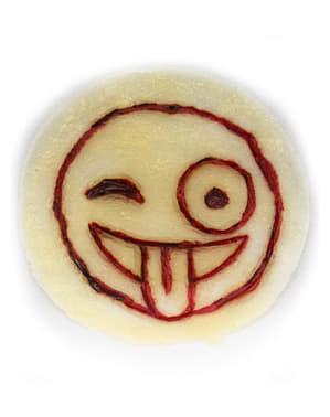 Prothèse smiley gravé dans la peau