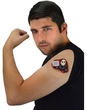 Proteza zombie wychodzący ze skóry