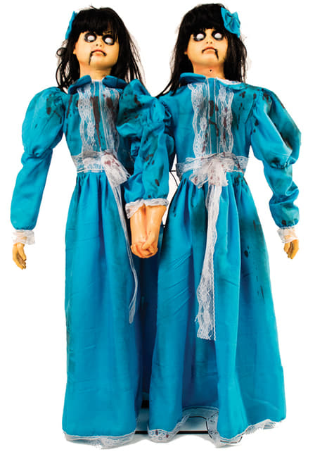 Statue animée jumelles diaboliques