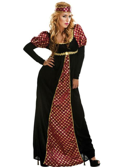 Disfraz de princesa de la edad media para mujer
