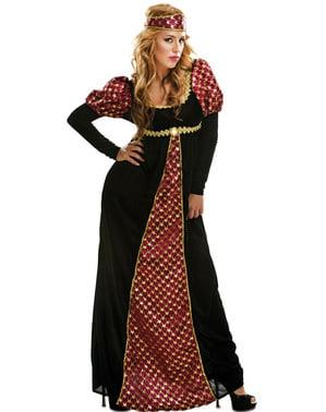 Prinses kostuum uit de middeleeuwen voor vrouw
