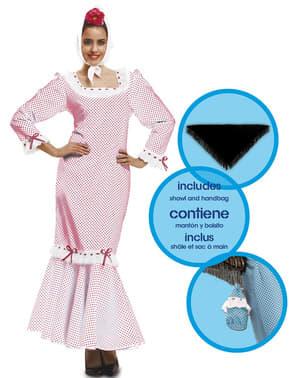 Traditional White Madrid Dress for Women