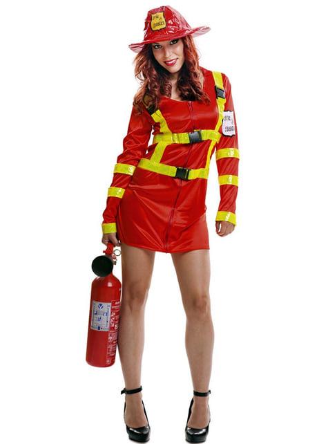 Fato de bombeiro apaga fogos para mulher