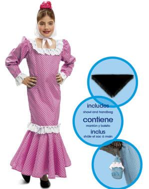 Дівчата Традиційні рожеві сукні Мадрида