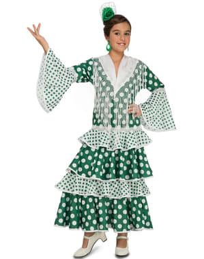 Дівчата Зелений фламенко костюм
