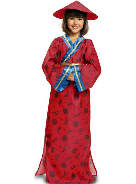 Chinesin Kostüm klassisch für Mädchen