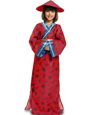 Fato de chinesa clássica para menina