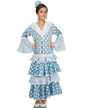 Disfraz de flamenca turquesa para niña