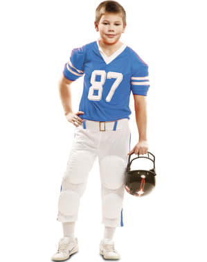 Blue 87 American Football player costume for boys