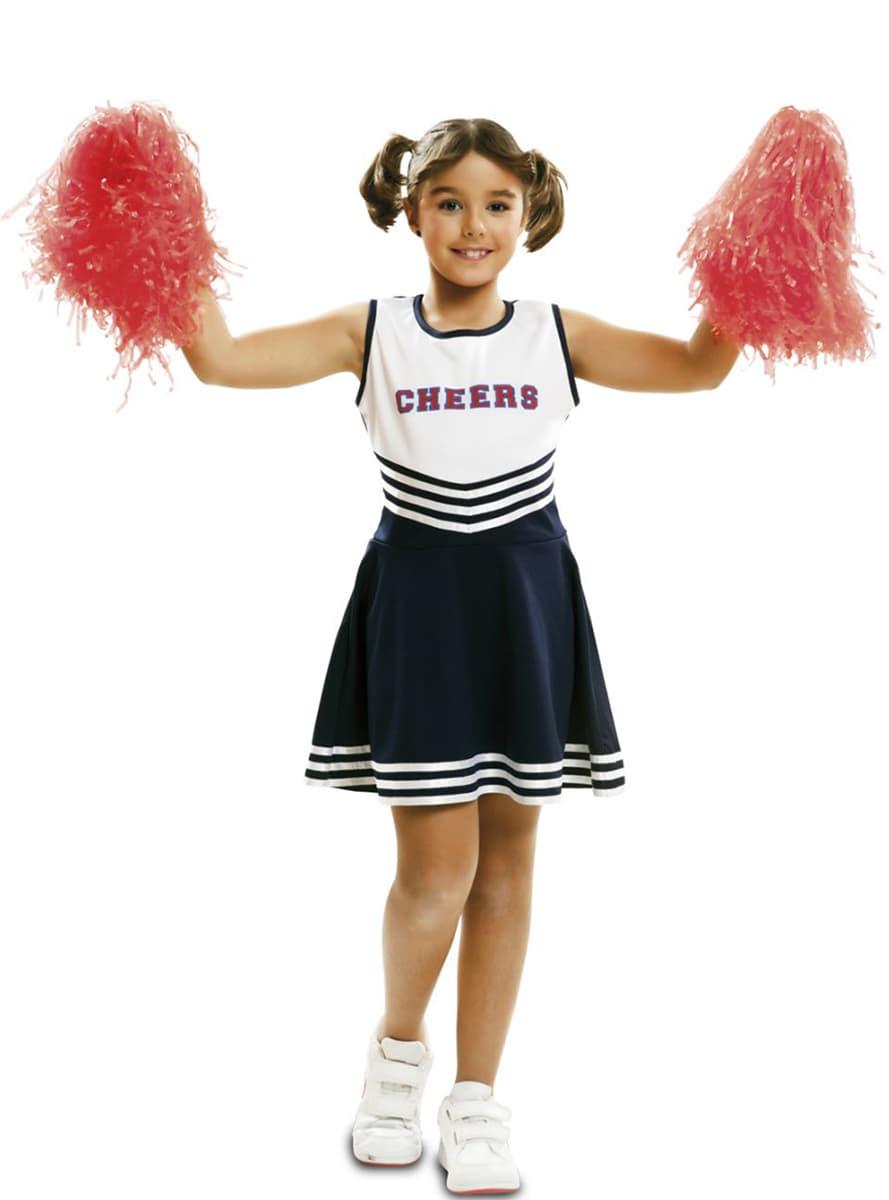 sportliches cheerleader kost m f r m dchen funidelia. Black Bedroom Furniture Sets. Home Design Ideas