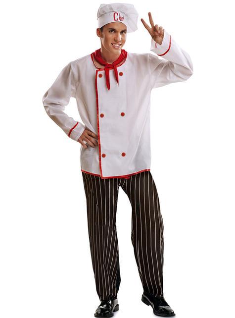 Disfraz de cocinero básico para hombre