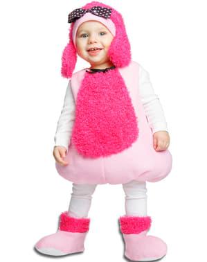 Fato de cachorrinho cor-de-rosa para menina