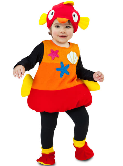 Disfraz de pez de agua salada infantil - niña