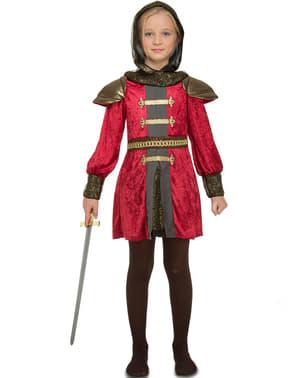 Mittelalterliche Kriegerin Kostüm für Mädchen