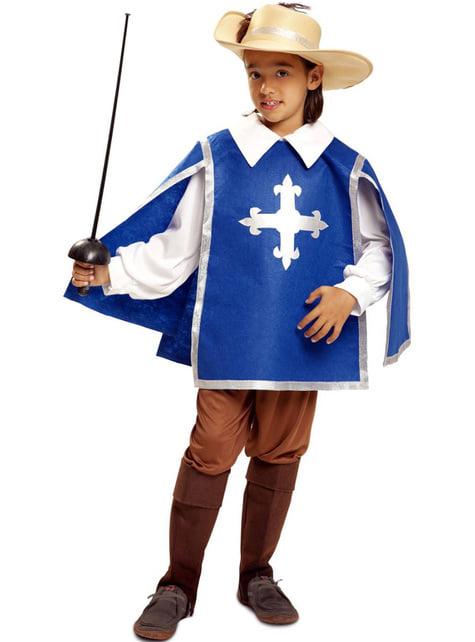 Fato de mosqueteiro azul para menino