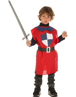 Tunique de chevalier médiéval rouge enfant