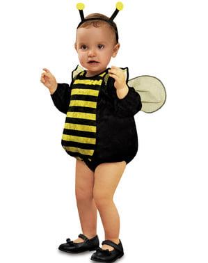 Fato de abelha de peluche para bebé
