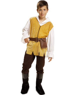 Fato de criado medieval para menino