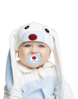 Maskeraddräkt kanin blå med öron för bebis