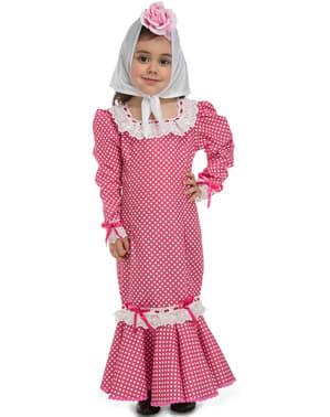 Disfraz de chulapa rosa para bebé