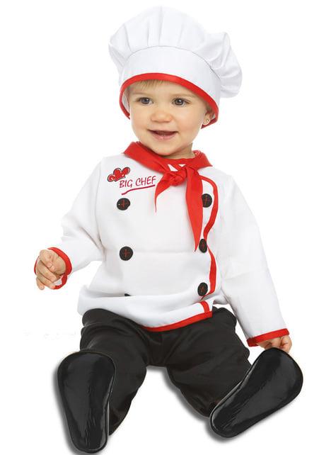 Strój elegancki kucharz dla niemowląt