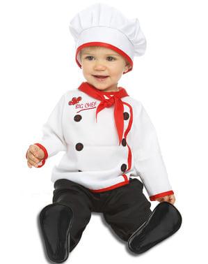 Fato de cozinheiro elegante para bebé