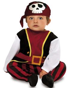 Disfraz de pirata calavera para bebé