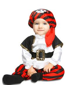 Disfraz de pirata a rayas para bebé