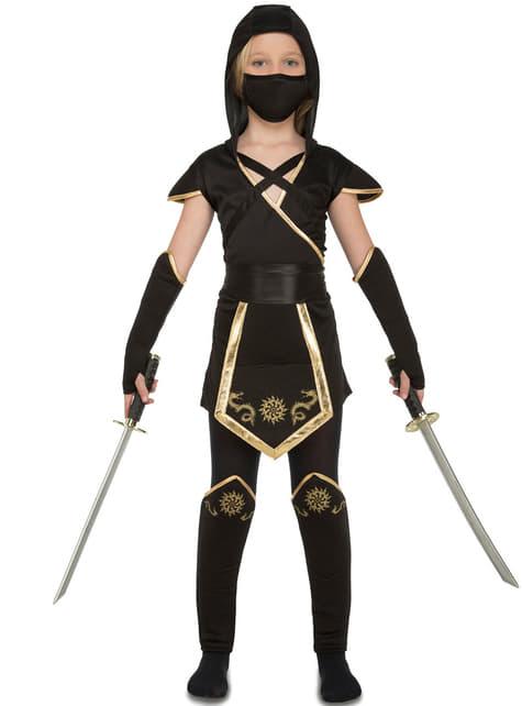 Fato de ninja astuta para menina