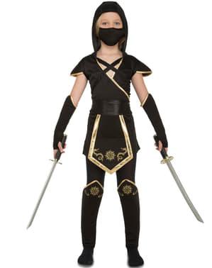 Disfraz de ninja para niña