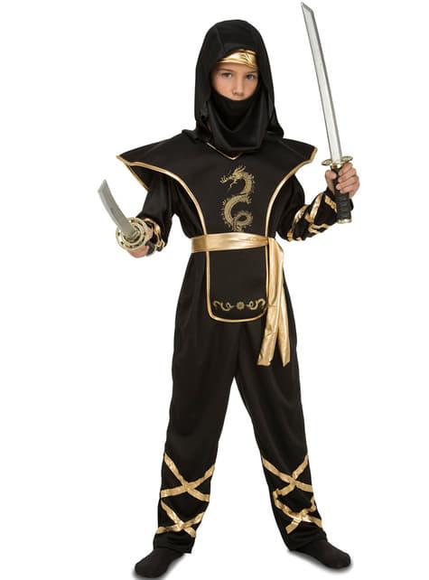 Disfraz de ninja astuto para niño