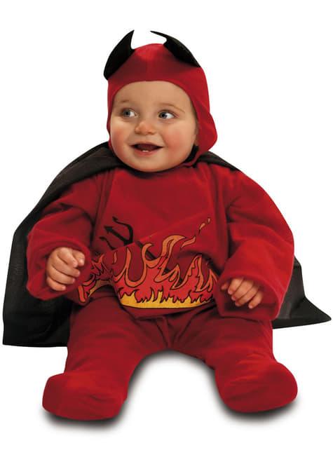 Fato de diabinho em chamas para bebé