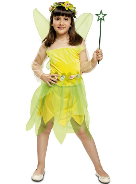Disfraz de hada del bosque amarilla para niña